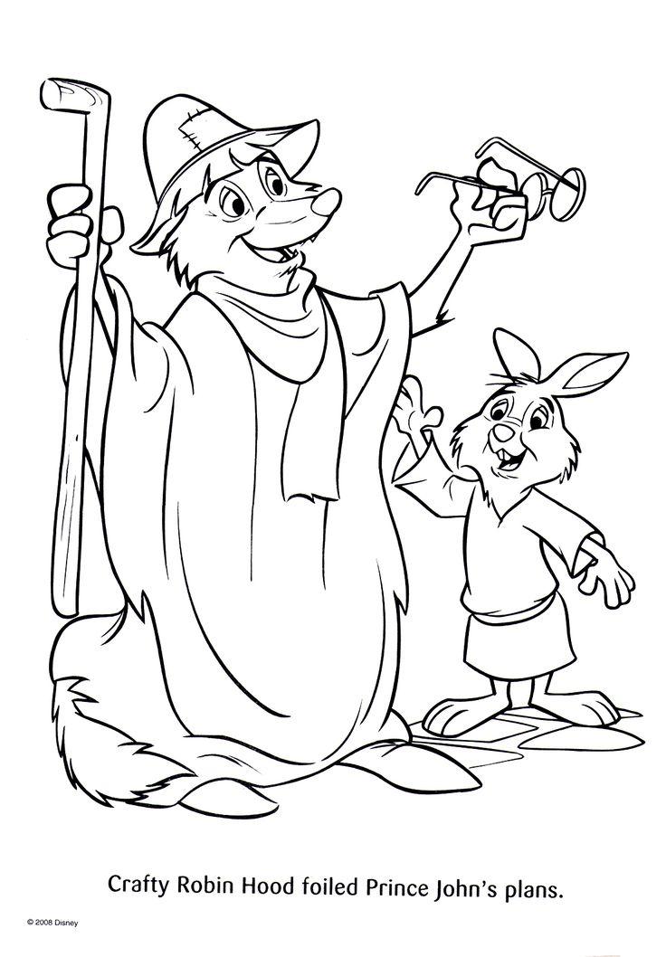 Épinglé Par Marjolaine Grange Sur Coloriage Robin Des Bois à Coloriage Robin Des Bois Disney
