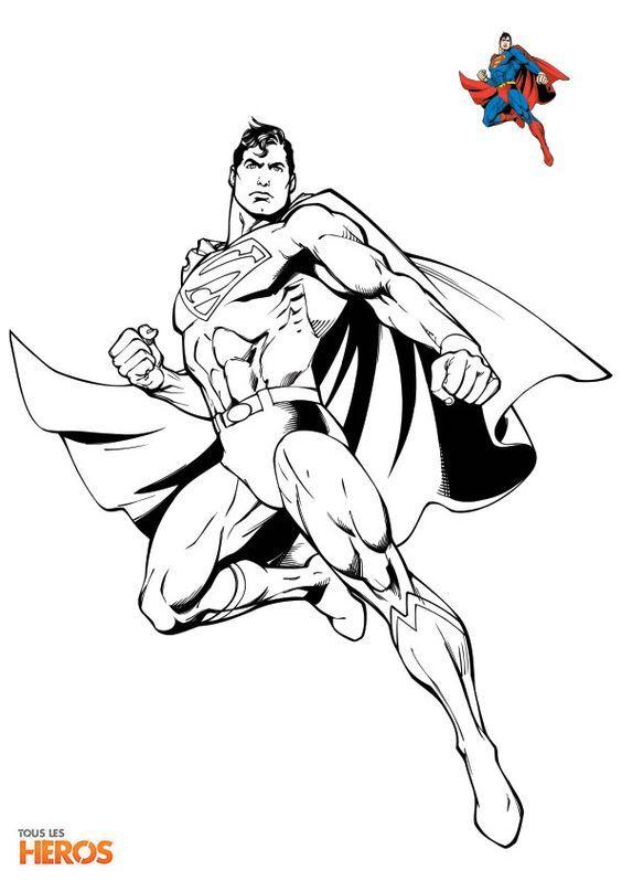 Épinglé Par Marjolaine Grange Sur Coloriage Superman dedans Coloriage Superman A Imprimer Gratuit