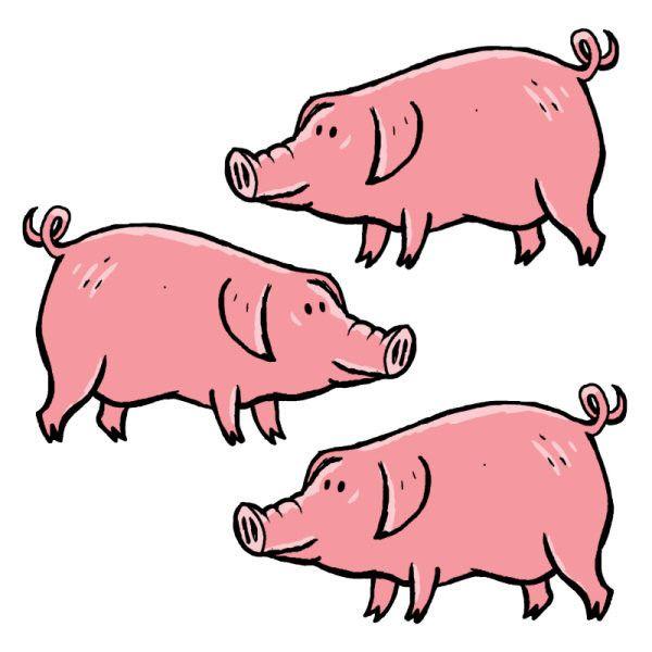 Épinglé Sur 3Petits Cochons intérieur Dessin Des 3 Petit Cochon