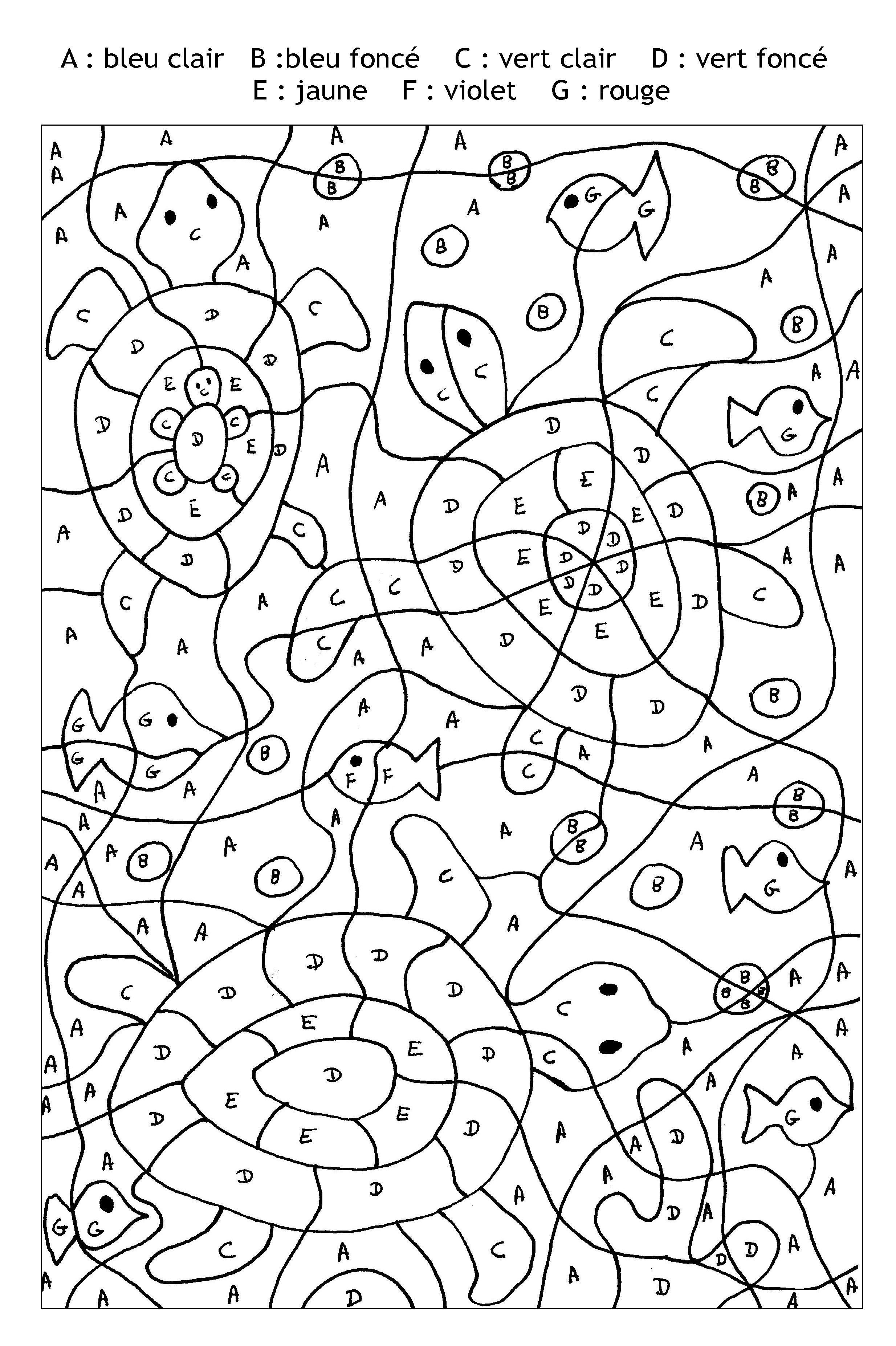 Épinglé Sur Color By Number For Adults And Children destiné Coloriage Magique