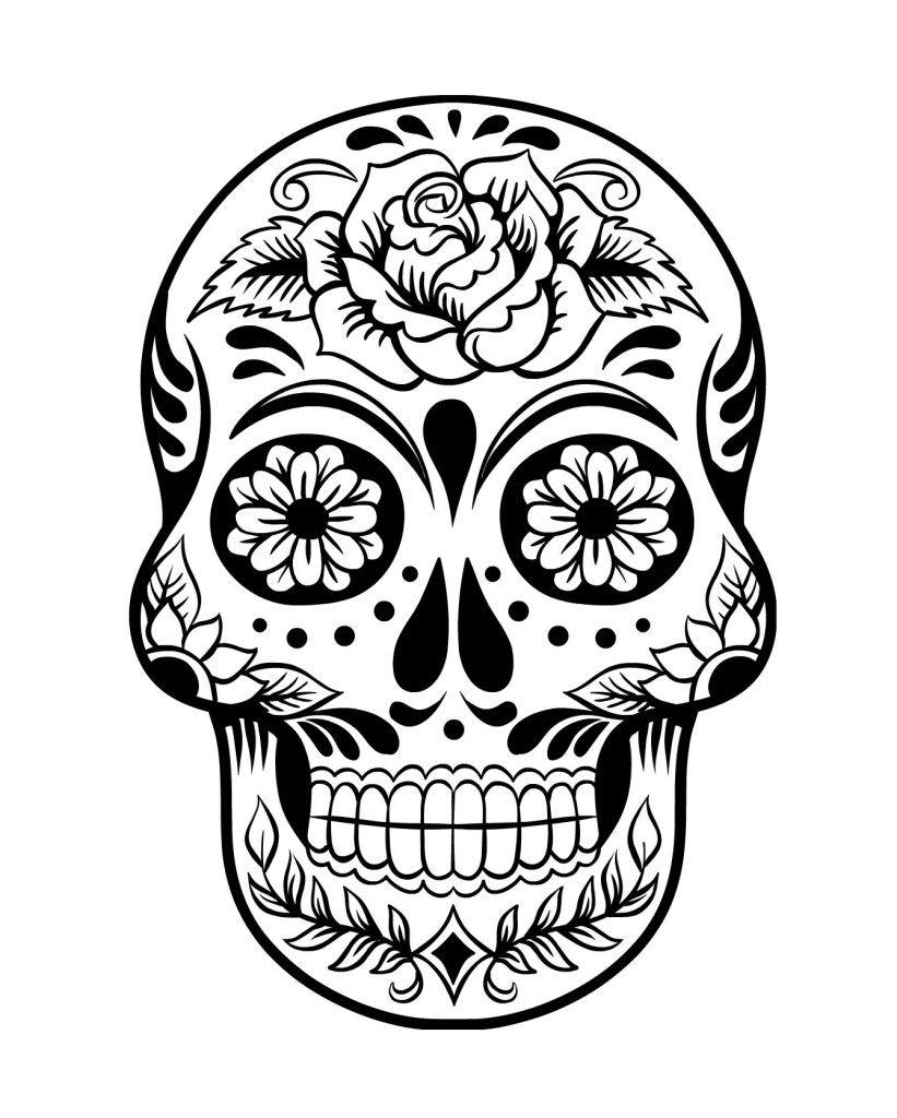 Épinglé Sur Coloriage destiné Tete De Mort A Colorier