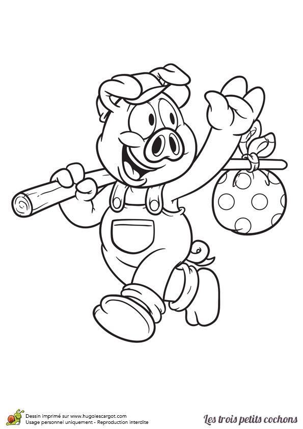 Épinglé Sur Coloriages Animaux De La Ferme dedans Dessin Petit Cochon