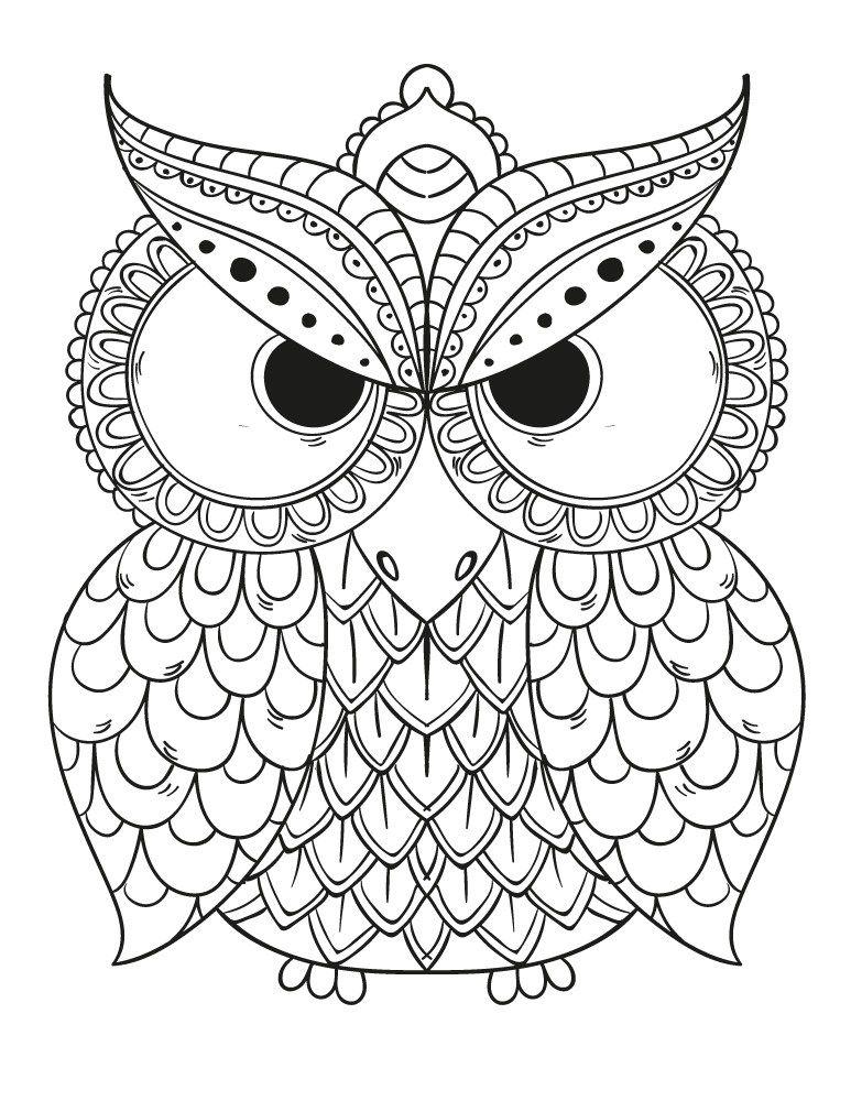 Épinglé Sur Coloriages De Hiboux Pour Adulte - Owl Adult à Coloriage À Gratter Adulte
