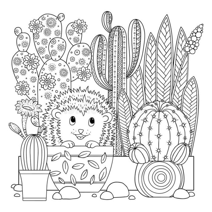 Épinglé Sur Coloriages dedans Coloriage Cactus A Imprimer
