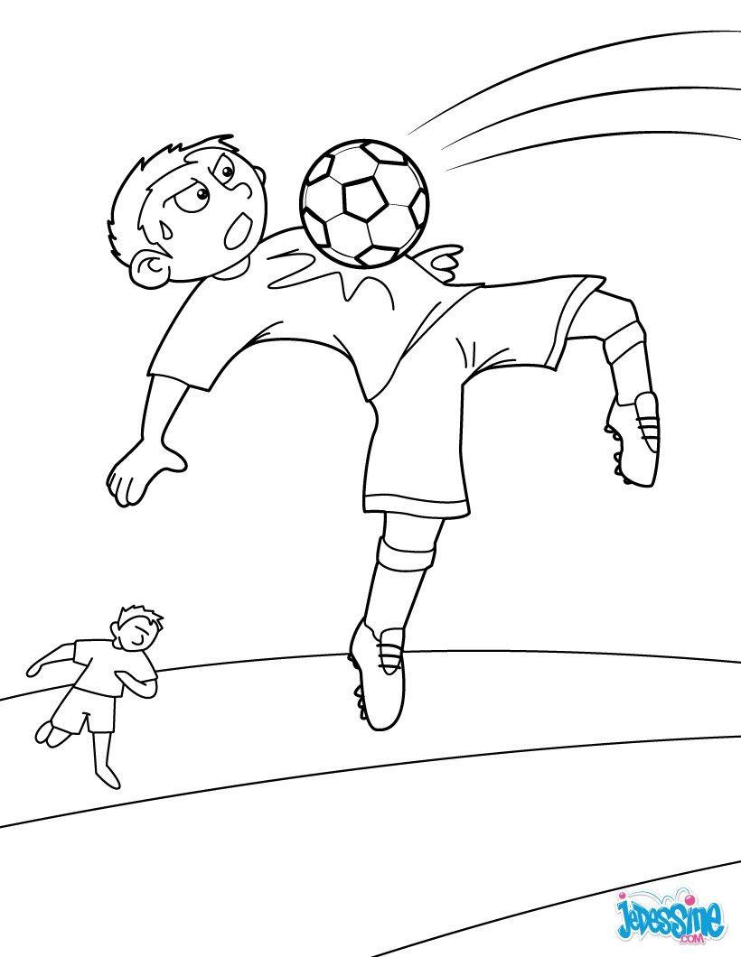 Épinglé Sur Coloriages Football pour Dessin Animé De Foot