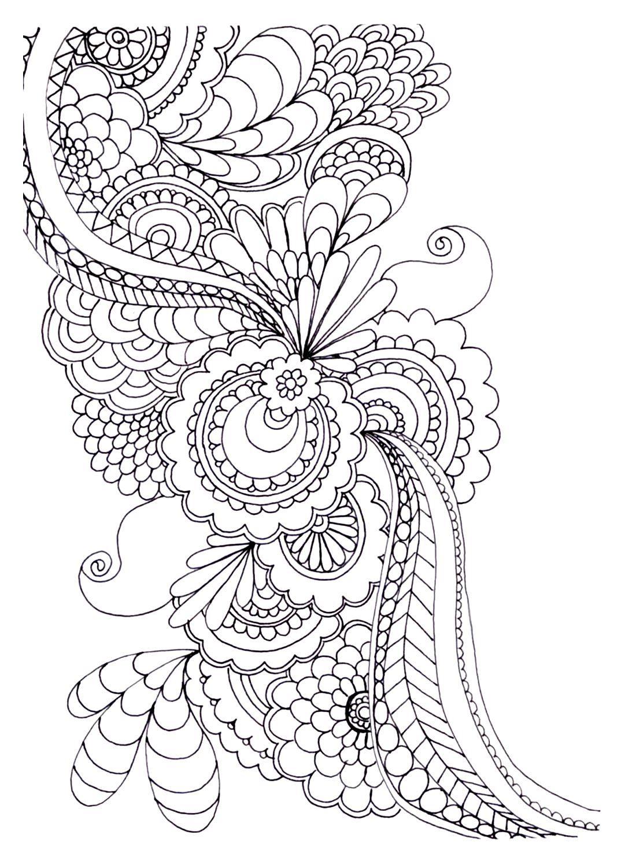 Épinglé Sur Coloring And Doodling dedans Coloriage Adultes À Imprimer