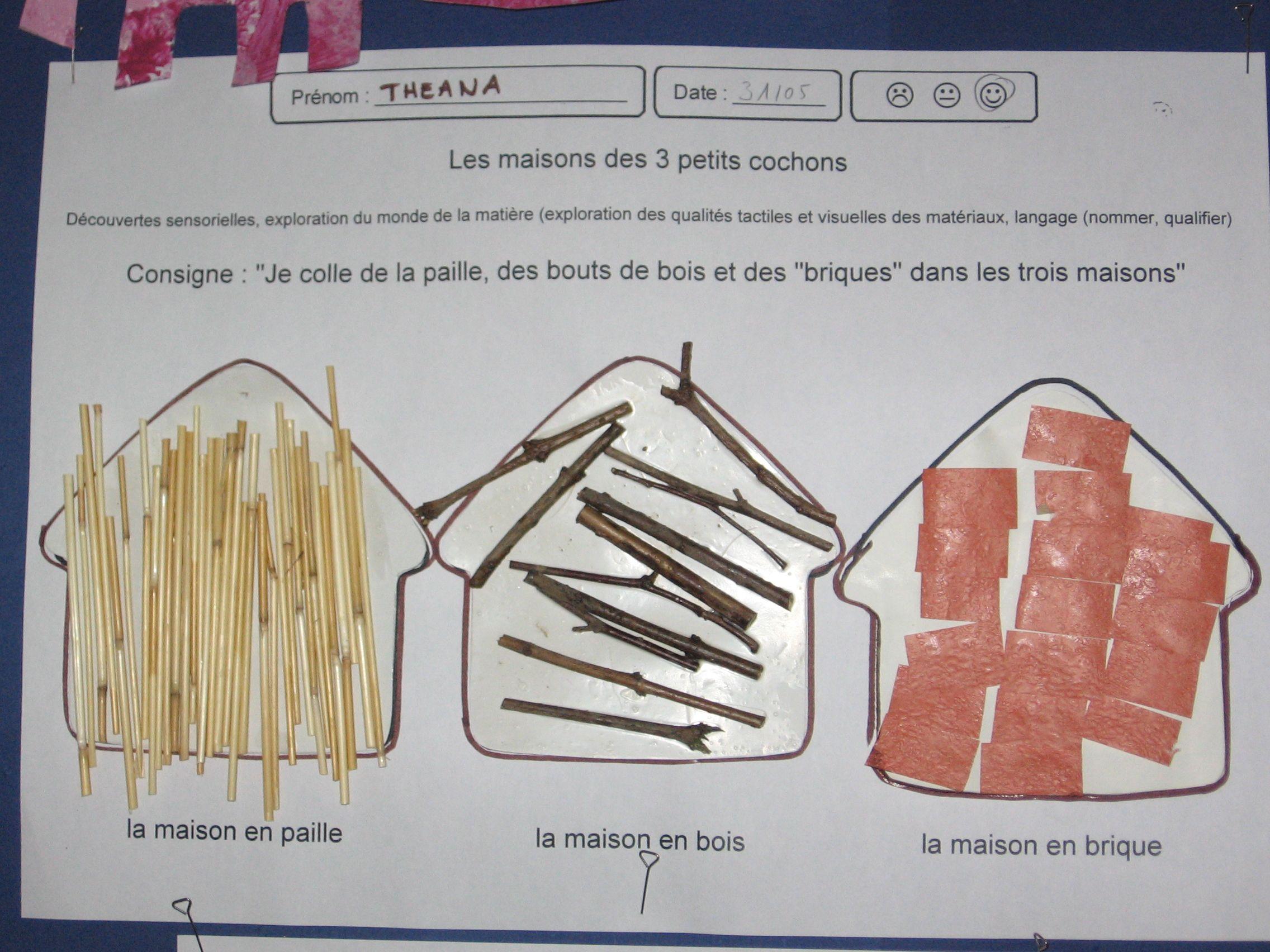 Épinglé Sur Les 3 Petits Cochons destiné Dessin De Petite Maison