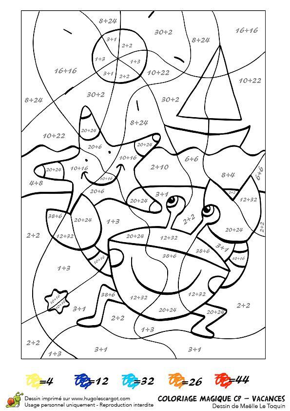 Épinglé Sur Lois pour Coloriage Magique Cp