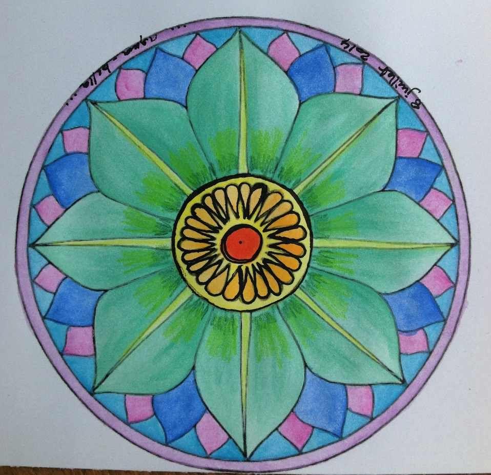Épinglé Sur Mandala à Mandala Facile A Dessiner