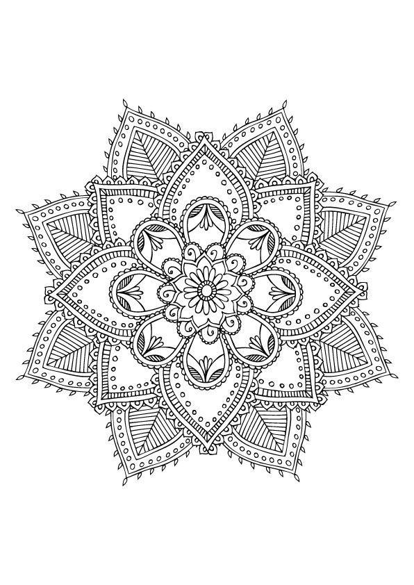 Épinglé Sur Mandala Drawing intérieur Coloriage Mandala Anti Stress
