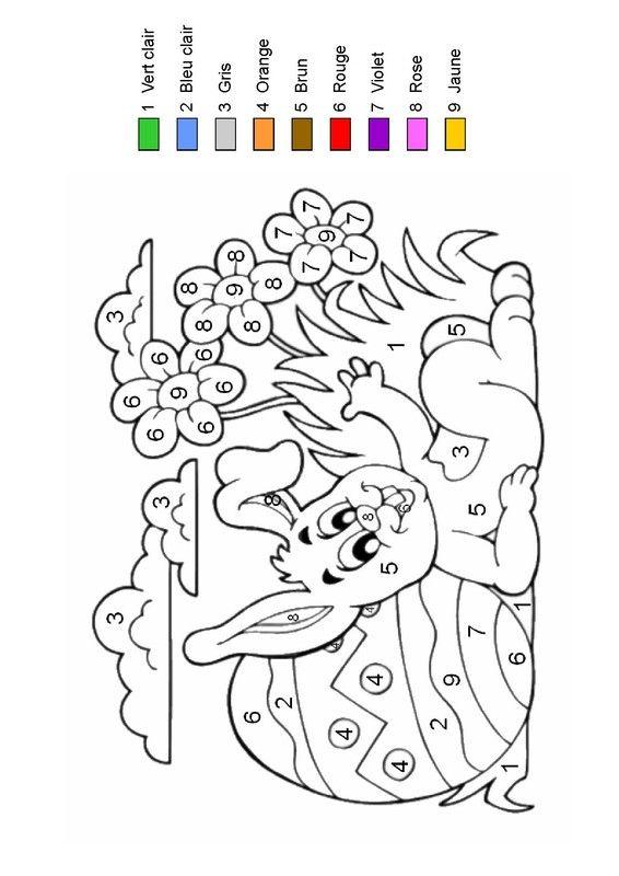 Épinglé Sur Math2 tout Coloriage Numéroté Maternelle