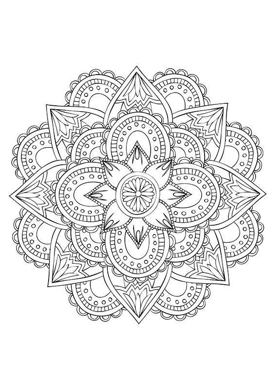 Épinglé Sur To Color - Mandalas destiné Coloriage Mandala Adulte A Imprimer
