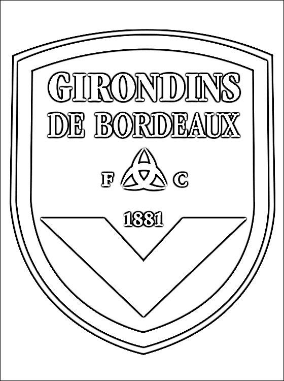 Escudo Football Club Des Girondins De Bordeaux | Desenhos avec Coloriage Equipe De Foot