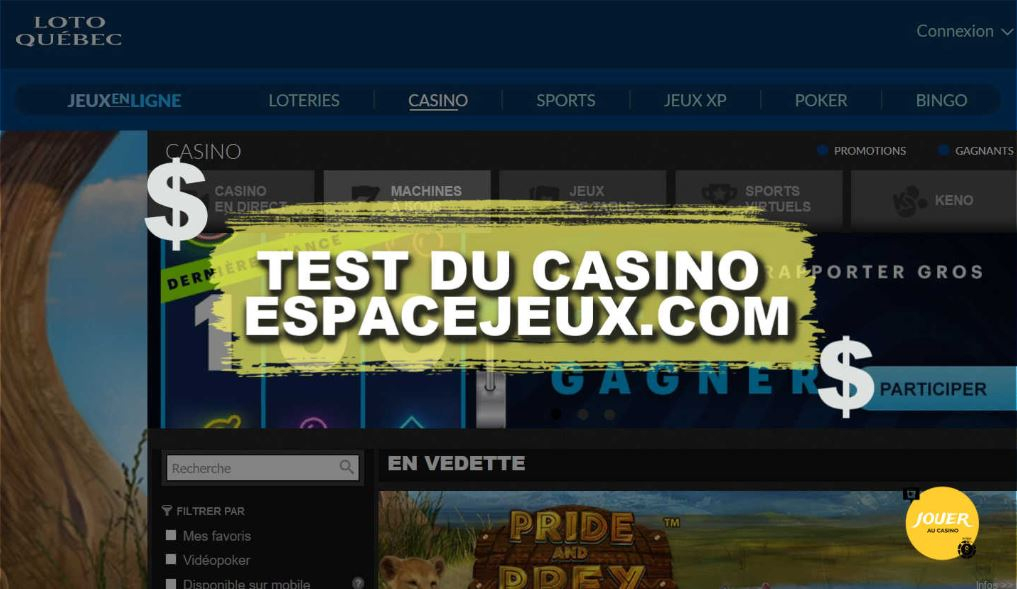 Espace Jeux Casino En Ligne: Avis Du Site De Loto Québec pour Espace Jeux Loto-Qu?Bec