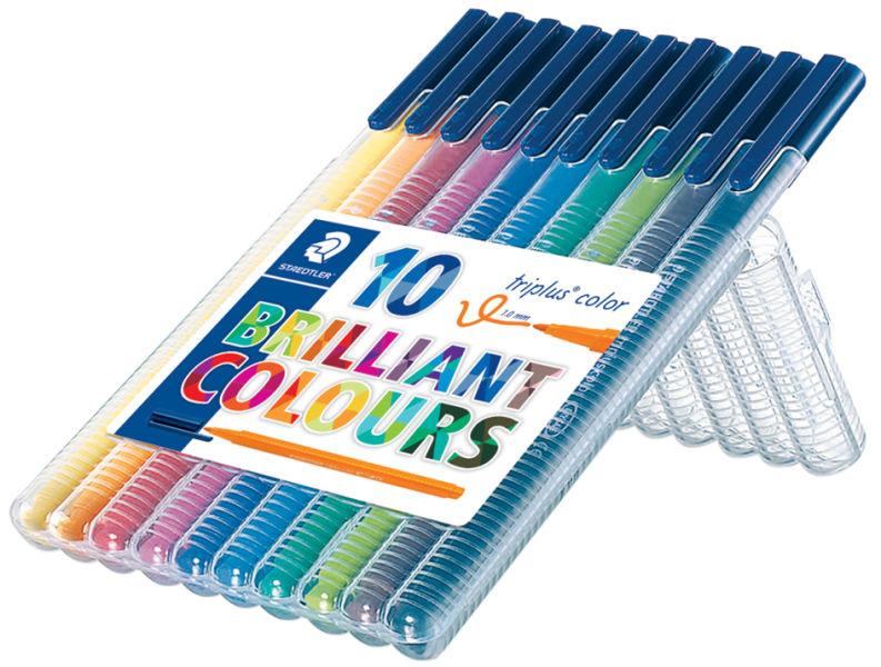 Étui De 10 Feutres De Coloriage Triplus Color - Staedtler pour Feutre Coloriage Professionnel