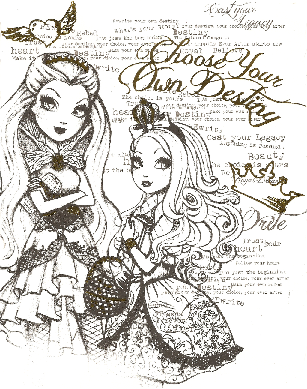 Ever After High Color Page 6 By Obscurepairing.deviantart concernant Coloriage Eva Queen A Imprimer