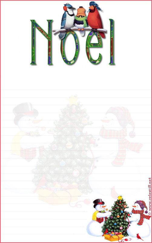 Exemple Papier À Lettre À Imprimer Noel avec Papier A Lettre Noel