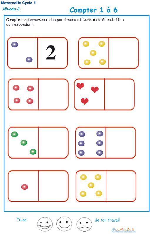 Exercice 3 Pour Compter Les Formes Sur Des Dominos pour Fiche Exercice Grande Section