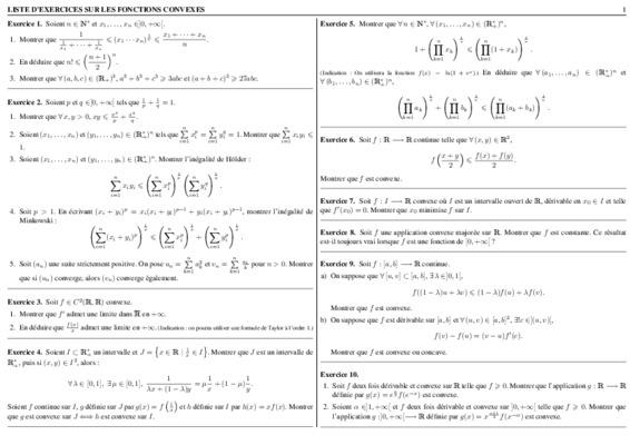 Exercices Crriges Ensemles Convexes.pdf Notice & Manuel D intérieur Manuel Exercices Iparcours Pdf