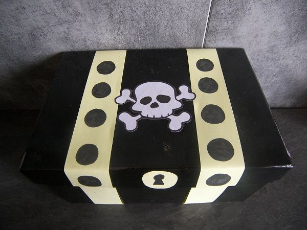 Fabriquer Un Coffre À Trésor | Deco Anniversaire Pirate dedans Comment Fabriquer Un Coffre Au Trésor