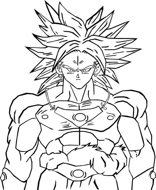 Facile Dragon Ball Broly Super Sayian - Coloriage Dragon dedans Coloriage Dragon Ball Z Super Saiyan A Imprimer