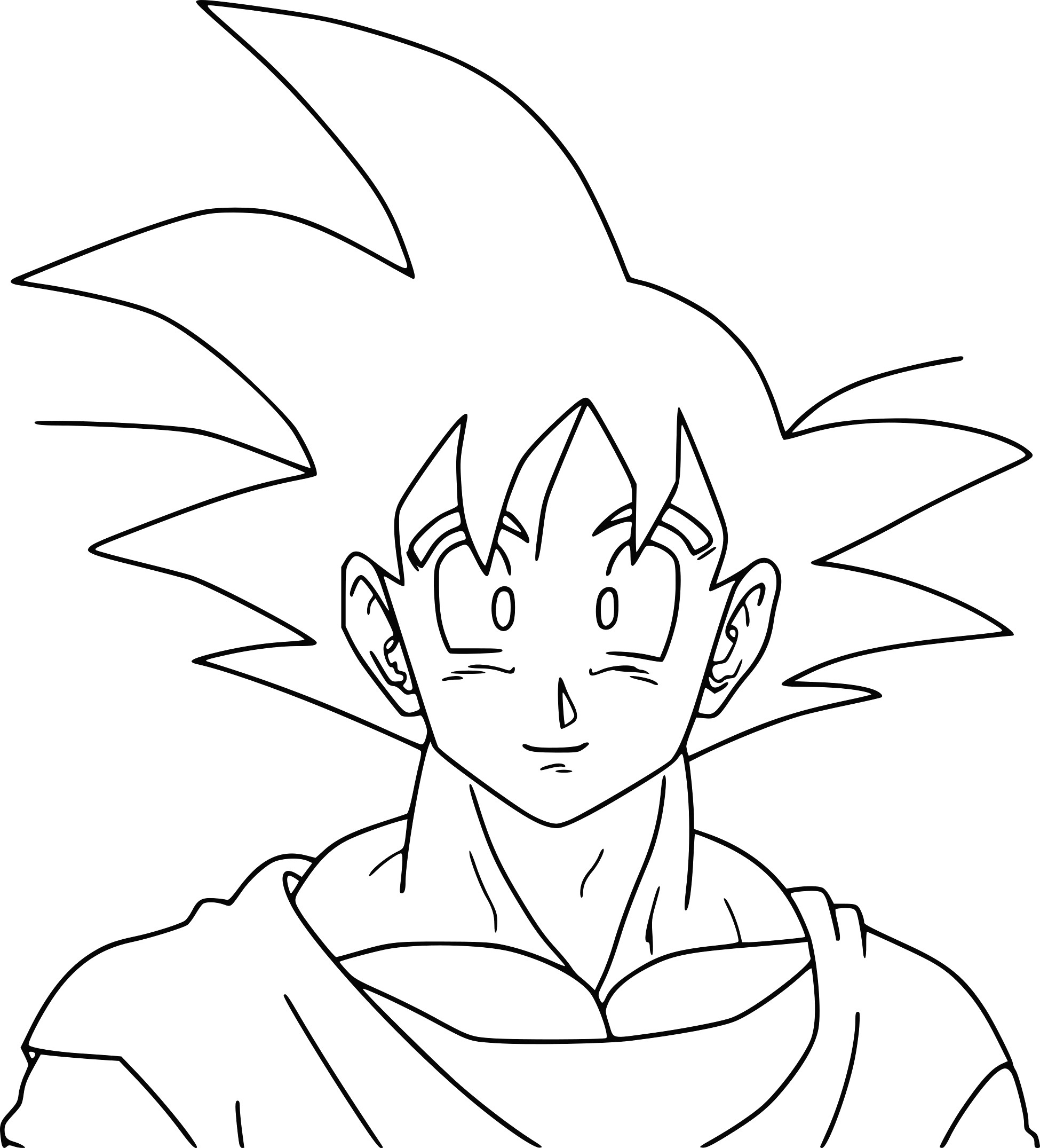 Facile Dragon Ball Broly Super Sayian Legendaire Coloriage serapportantà Coloriage Dragon Ball Z Sangoku