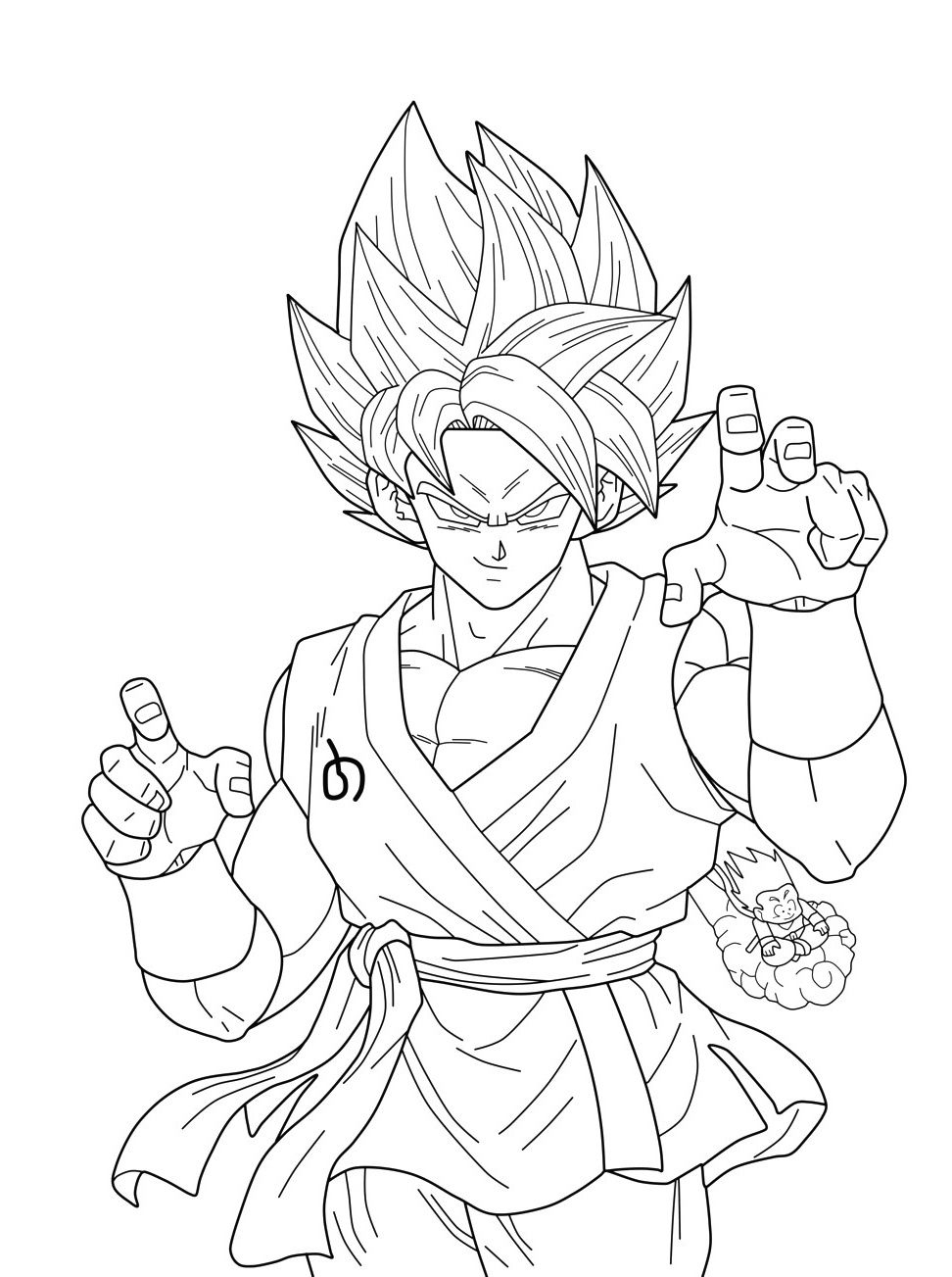 Facile Dragon Ball Broly Super Sayian Legendaire Coloriage serapportantà Coloriage Dragon Ball Z Super