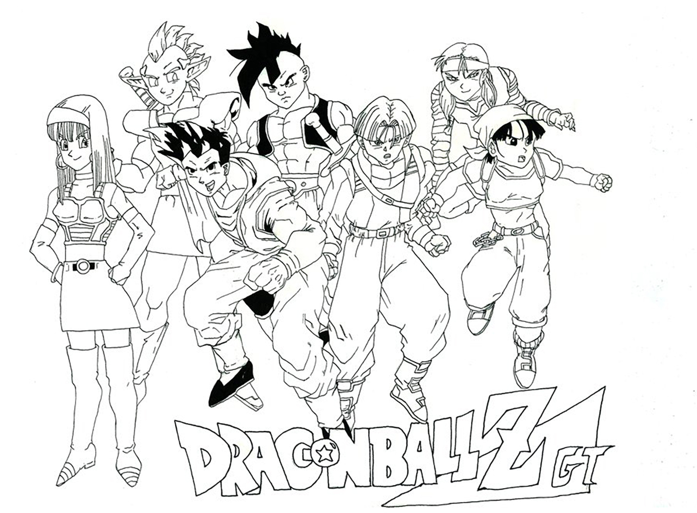 Facile Dragon Ball Gt - Coloriage Dragon Ball Z avec Coloriage Trunks Du Futur