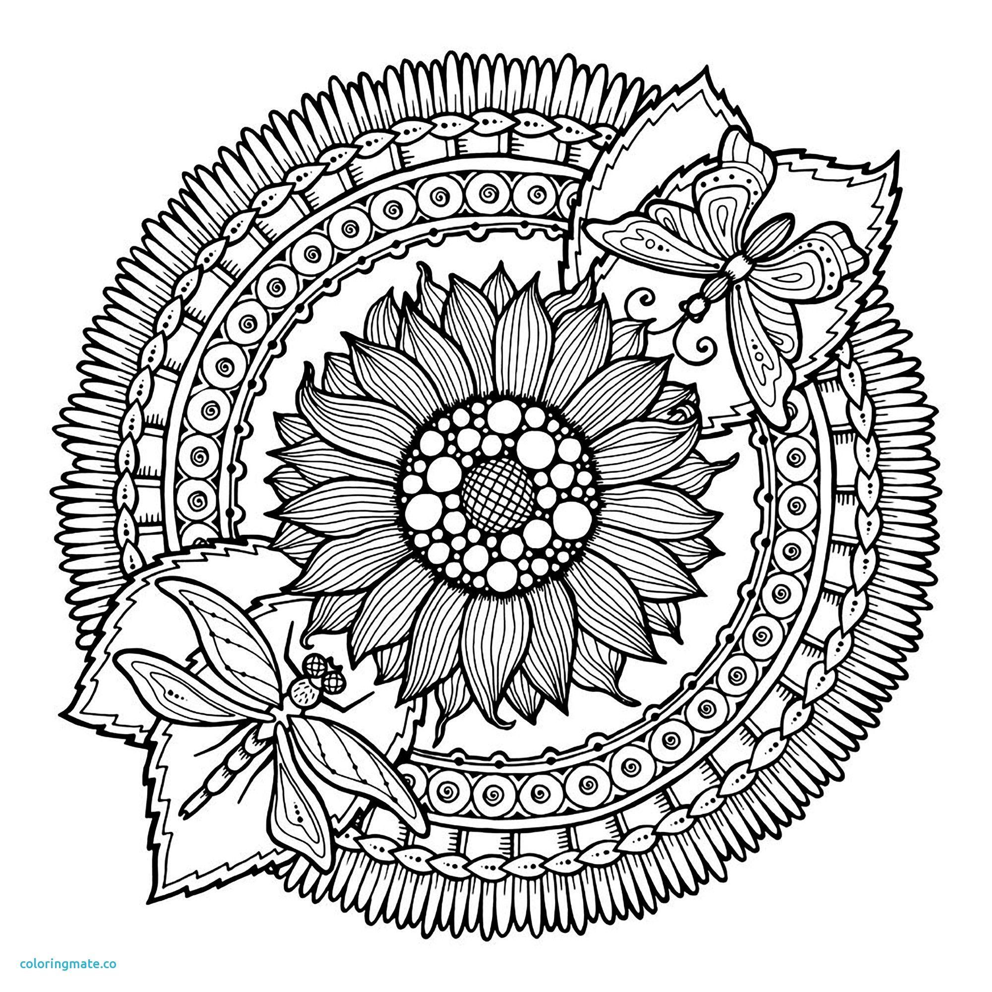Facile Mandala Fleurs Et Papillon Coloriage Mandalas Of tout Dessin Rosace Fleur
