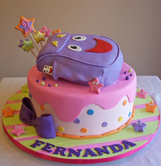 Family Crafts And Recipes: How To Be Super Mom: Dora pour Gateau Dora