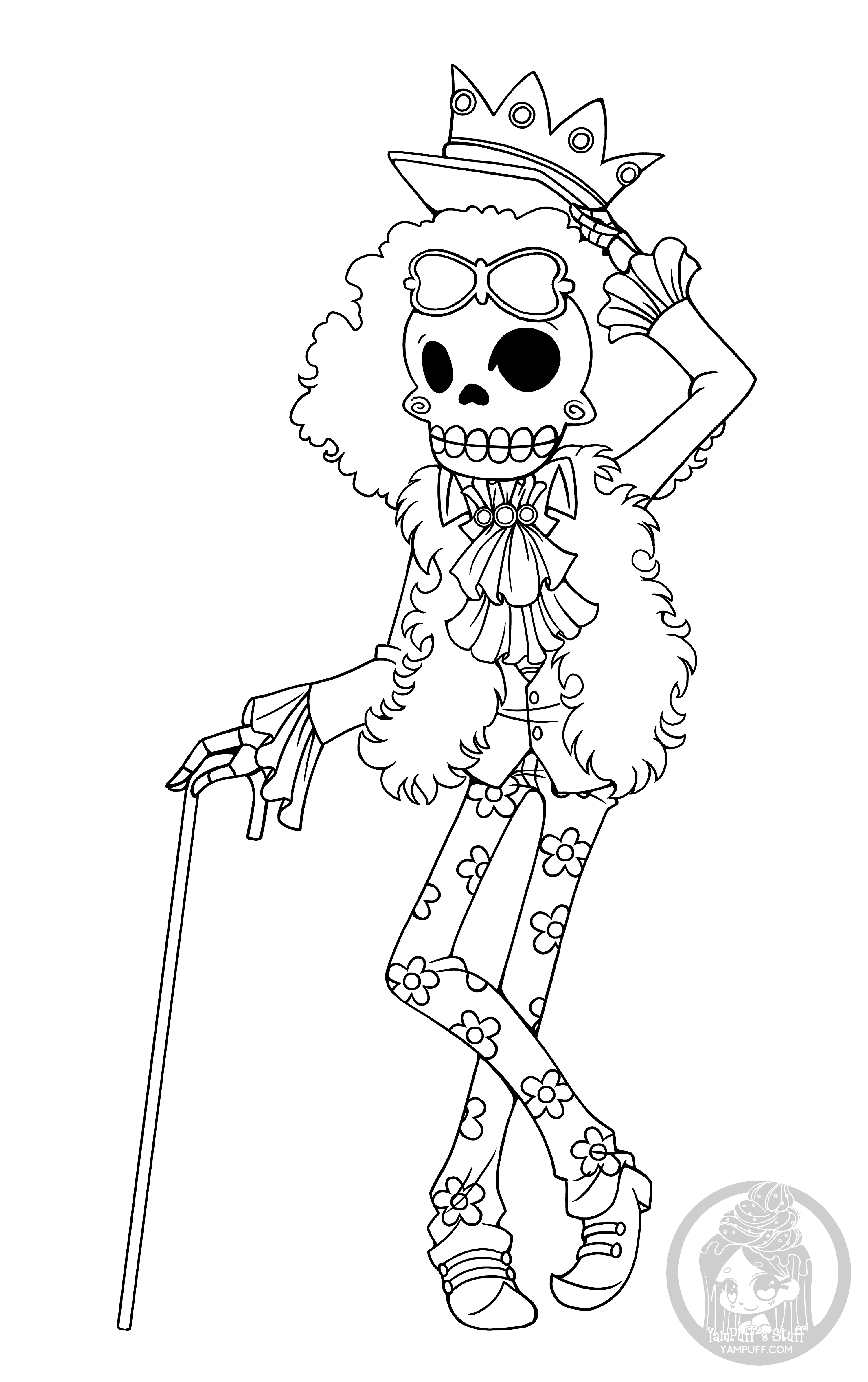 Fanart - Free Chibi Colouring Pages • Yampuff'S Stuff destiné Coloriage One Piece A Imprimer