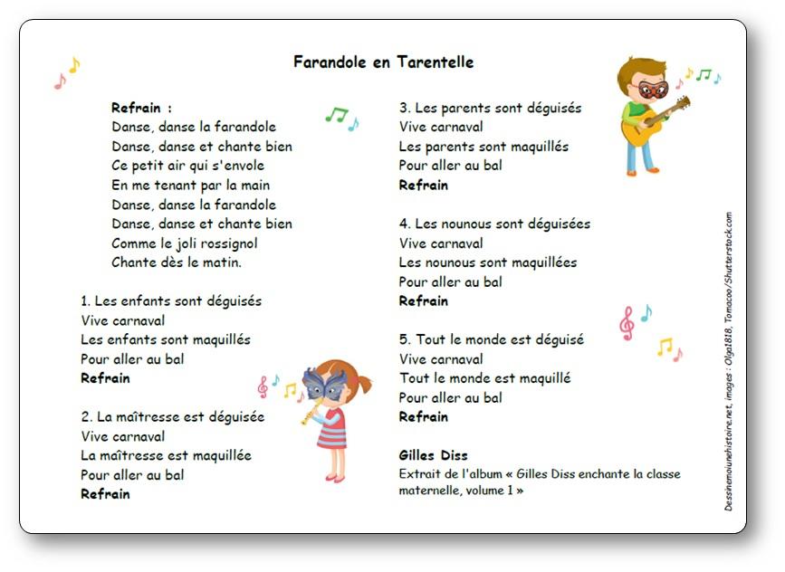 Farandole En Tarentelle De Gilles Diss - Paroles Et avec Po?Sie Vive Les Vacances