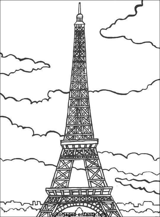 Fashion Coloring Pages | Happy Bastille Day Coloring Pages destiné Tour Eiffel À Imprimer