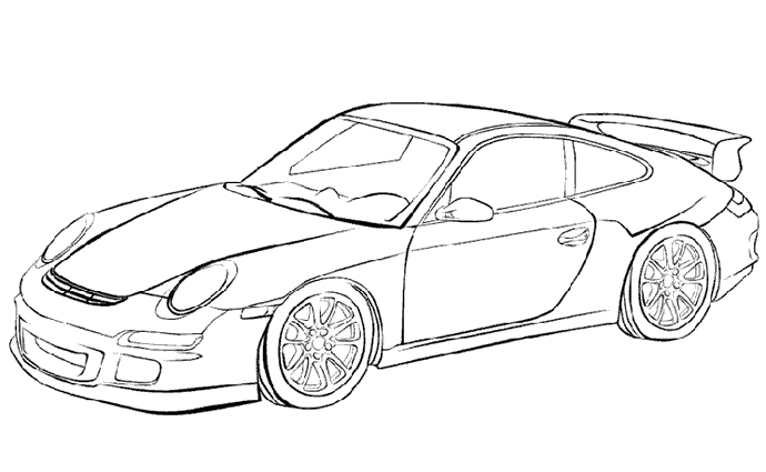 Ferrari Coloring Pages At Getdrawings | Free Download dedans Coloriage Porsche A Imprimer