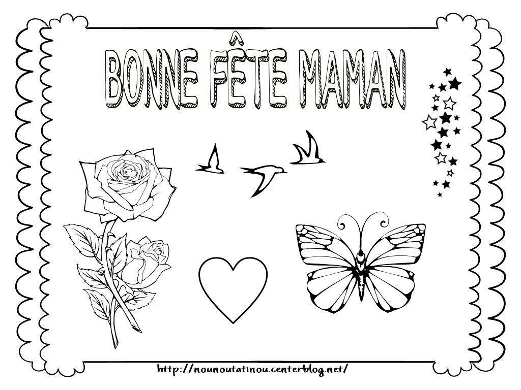 Fete Maman avec Coloriage Fete Des Maman A Imprimer