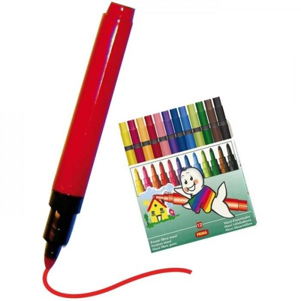 Feutre Prima Maxi 12Pcs - Prima tout Feutre Coloriage Professionnel