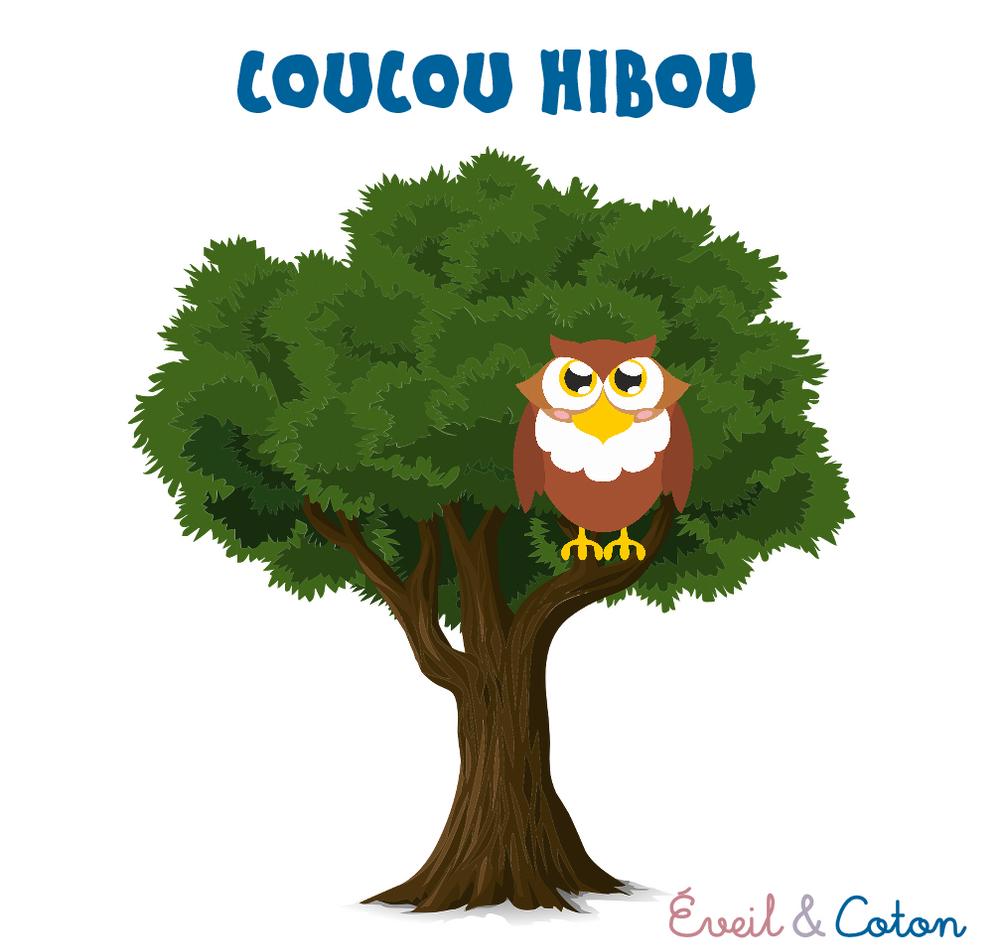 """Fiche """"Coucou Hibou"""" dedans Comptine Coucou Hibou"""