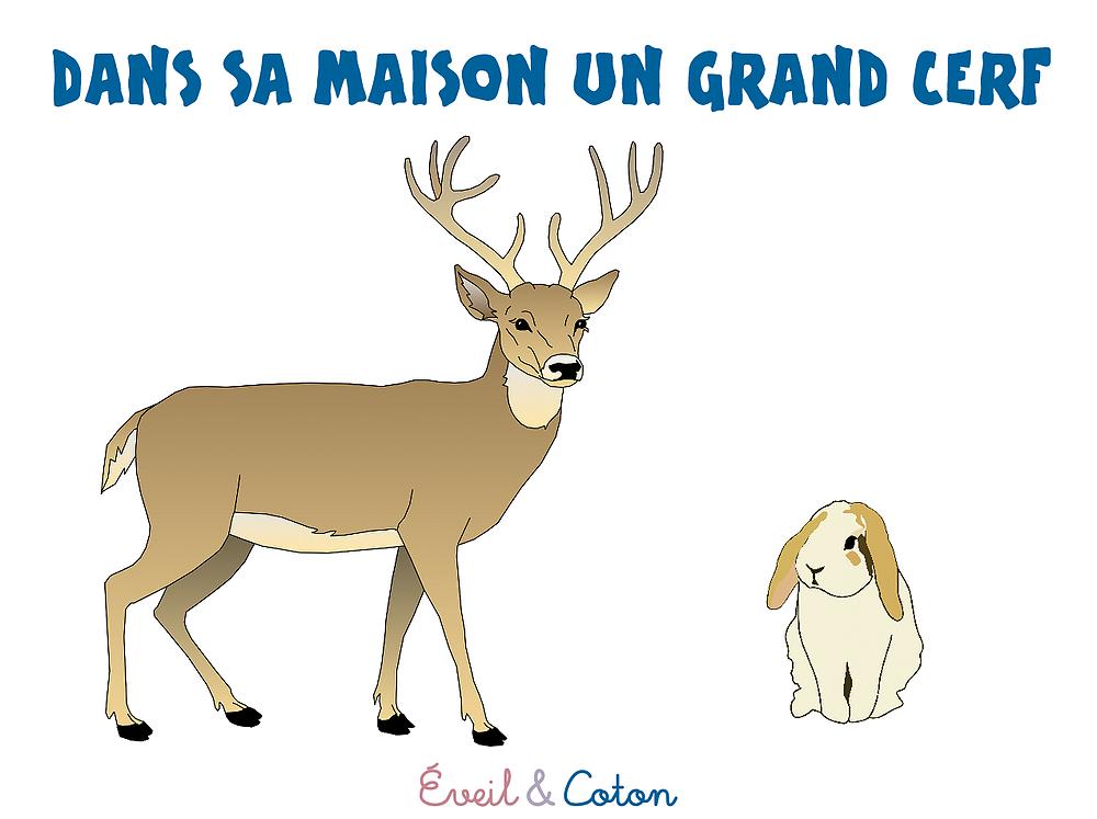 """Fiche """"Dans Sa Maison Un Grand Cerf"""" tout Un Grand Cerf Dans La Foret"""