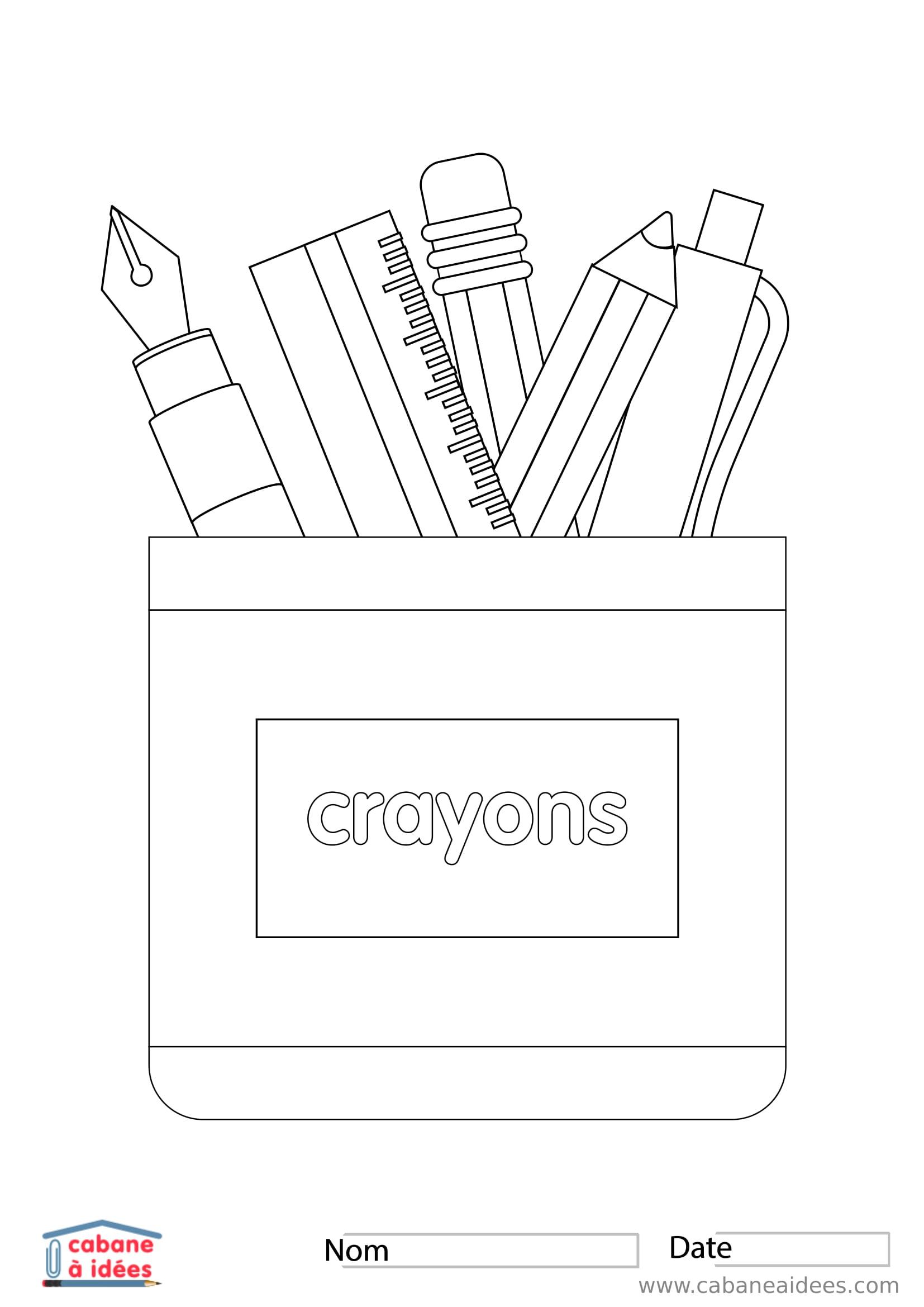 Fiches Et Pdf À Télécharger avec Crayon Coloriage