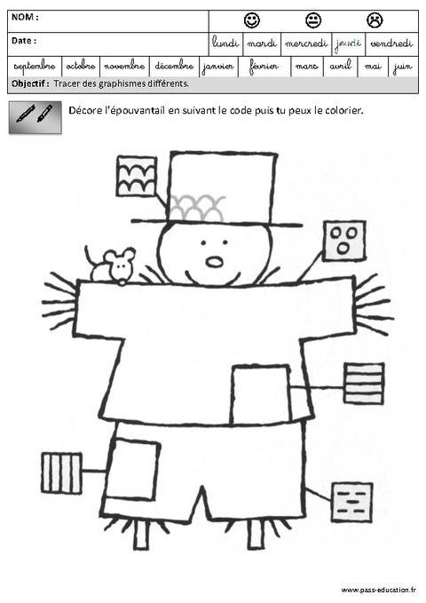 Fiches Pédagogiques - Exercices - Graphisme – Maternelle tout Exercices Coloriage Grande Section Imprimer