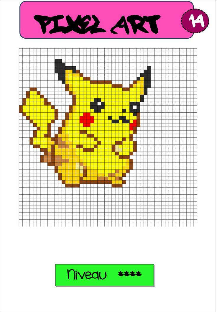 Fichier Pixel Art | Coloriage Pixel, Pixel Art À Imprimer destiné Modele Pixel Art A Imprimer