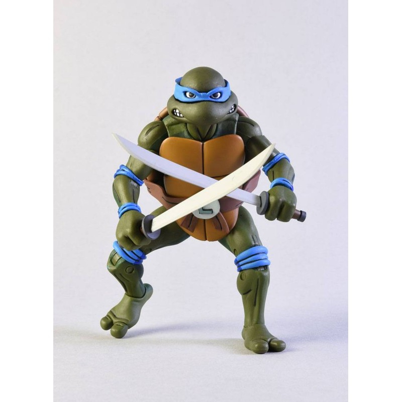 Figurine - Les Tortues Ninja - Leonardo Vs Shredder - Neca pour Tortue Ninja Shredder