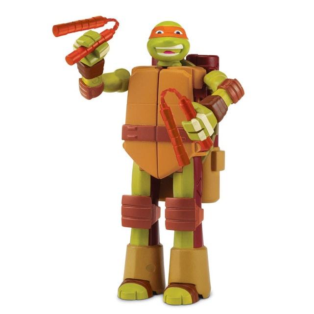 Figurine Tortue Ninja Transformable : Michelangelo Giochi dedans Coloriage Tortue Ninja Michelangelo