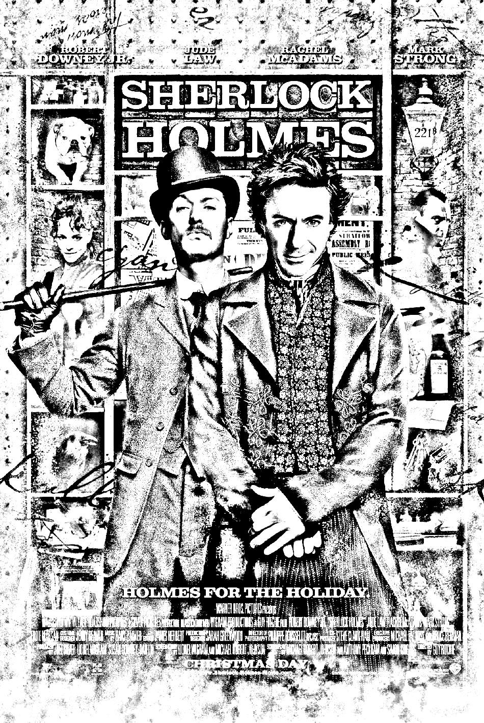 Film Sherlock Holmes - Films Célèbres - Coloriages tout Dessin De Sherlock Holmes