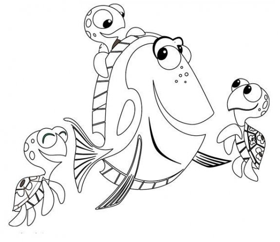 Finding Nemo Coloing Pages | Minister Coloring tout Coloriage Finding Dory