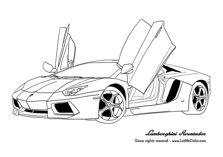 Fine Coloring Page Lamborghini That You Must Know, You're encequiconcerne Voiture Int?Rieur Coloriage