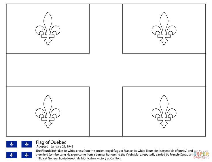 Flag Of Quebec Coloring Page | Free Printable Coloring intérieur Drapeau Du Canada A Colorier