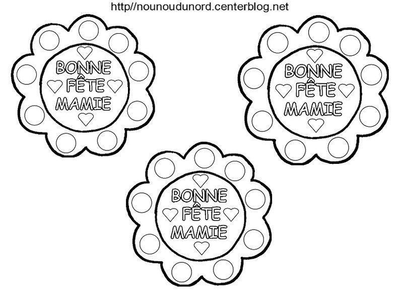 Fleur Bonne Fête Mamie, Coloriage, Gommettes Et En Couleur à Coloriage Bonne Fete Mamie
