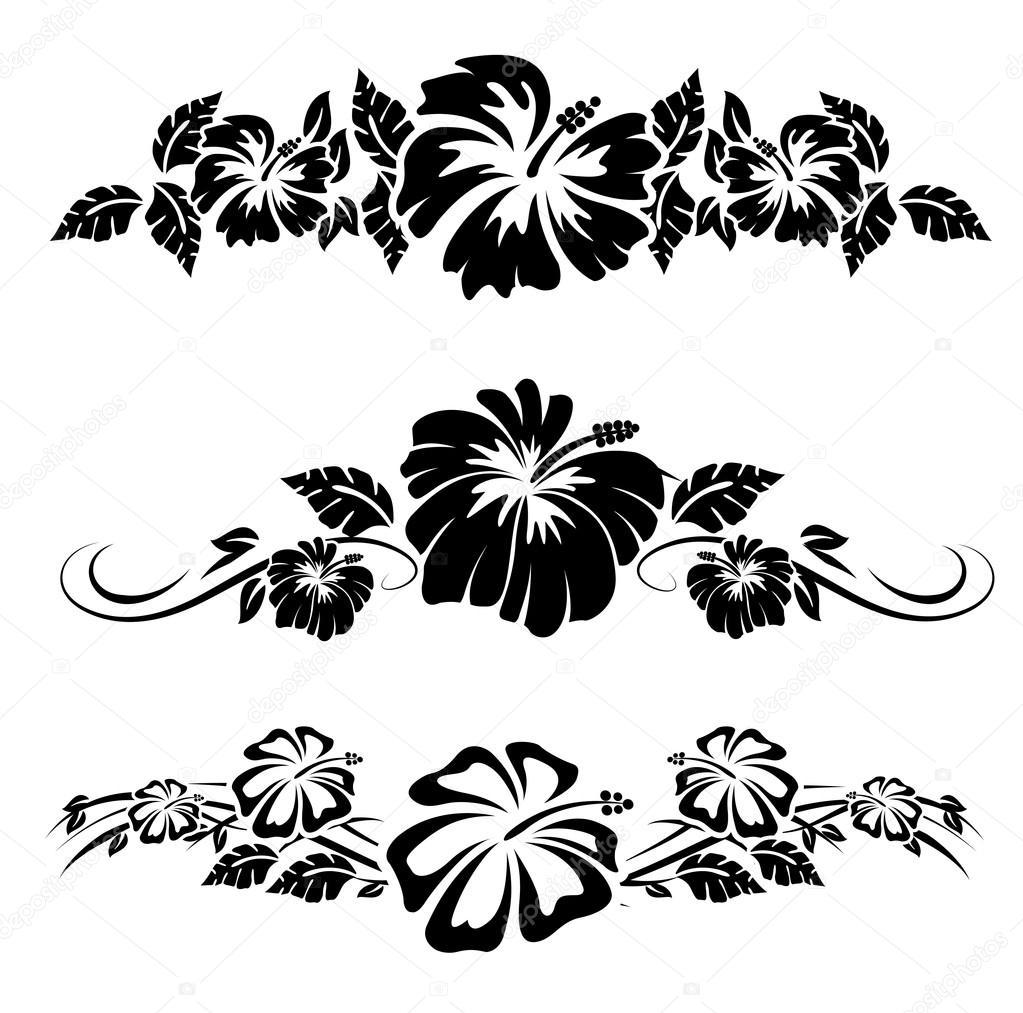 Fleurs Hawaiennes Dessin avec Coloriage Hawaienne