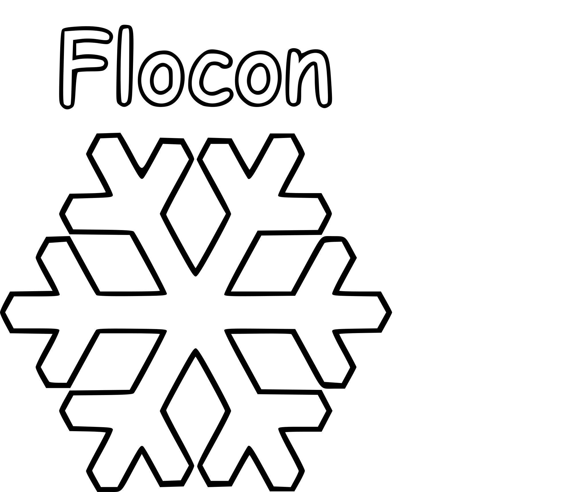 Flocon De Neige À Imprimer - Dessin.site Concernant Flocon à Flocon À Colorier